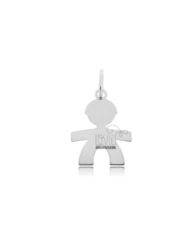 PENDANT BABY WITH SHEET MIS 22X17 SILVER RHODIUM 925 ‰