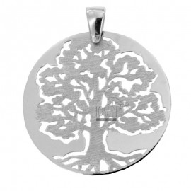 PENDANT TREE OF LIFE MM 35 SILVER GLOSS AND SATIN RHODIUM TIT 925 ‰