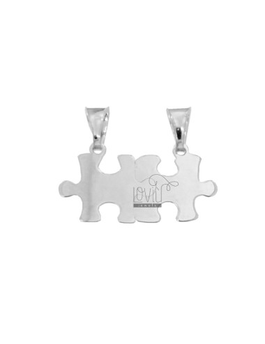 PENDANT PUZZLE DIVIDED MM 14x27 SILVER RHODIUM TIT 925