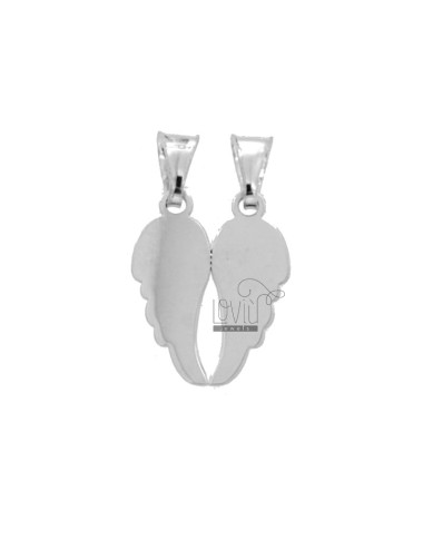 PENDANT WINGS DIVIDES 20x16 MM SILVER RHODIUM TIT 925