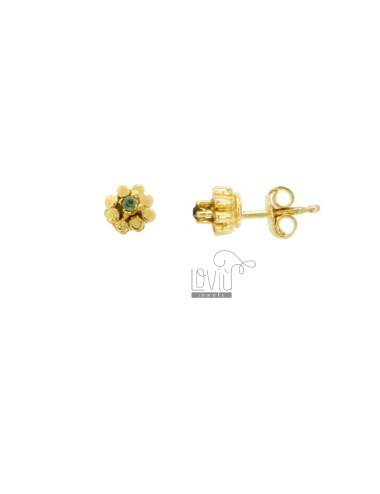 EARRINGS WITH FLOWER AND...