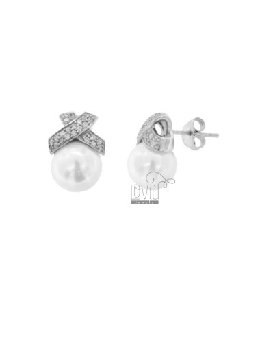 EARRINGS WITH PEARL 10 MM...