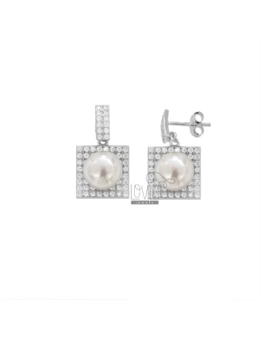 EARRINGS WITH PEARL 8 MM...