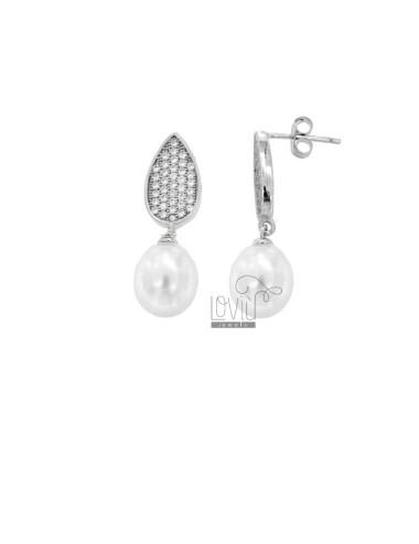 Pendientes con perla 9x8 mm...