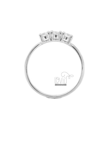 TRILOGY RING IN SILBER...