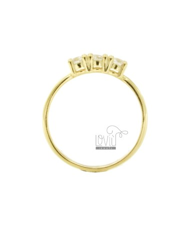 Trilogy ring in golden...