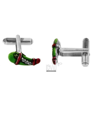 TWINS ASSO OF 23X11 MM STICKS IN SILVER RHODIUM TIT 925 AND ENAMEL