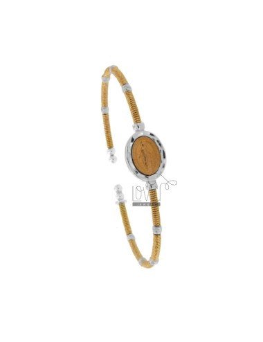 Rigid bracelet with wire...