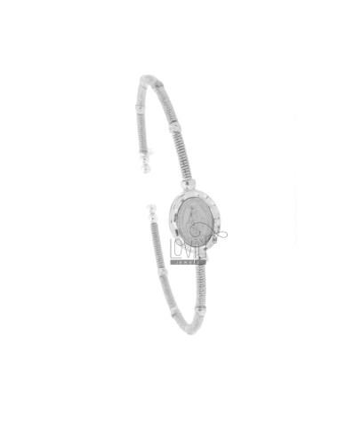 Rigid bracelet wire with...