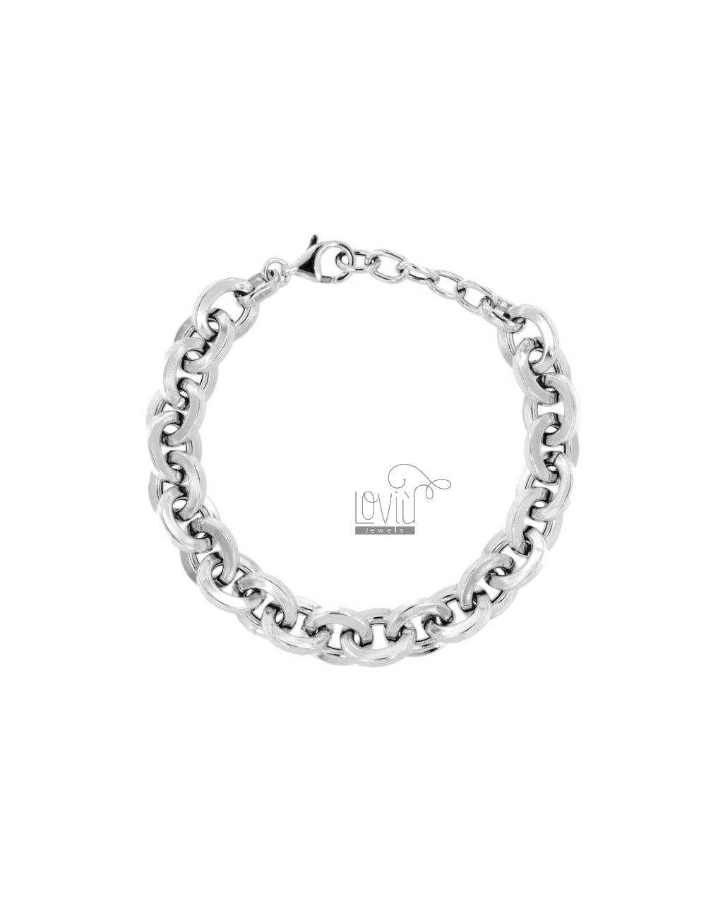 BRACELET SQUARE BARREL SQUARE MM 11 IN SILVER RHODIUM TIT 925 CM 19-21