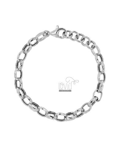 DIAMOND CABLE BRACELET 10 MM SILVER RHODIUM TIT 925 CM 19-21