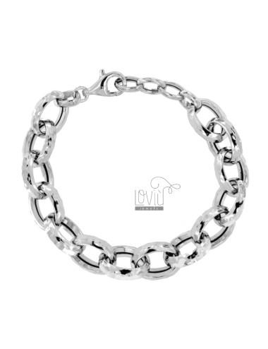 DIAMOND CABLE BRACELET 17 MM SILVER RHODIUM TIT 925 CM 19-21