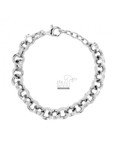 Rolo bracelet 'crushed diam...