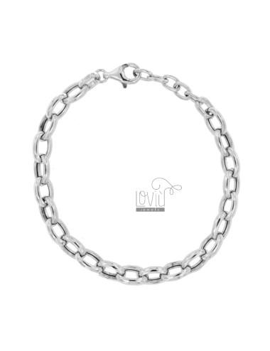 Bracelet cable 11 mm silver...