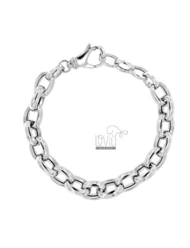 Bracelet cable 13 mm silver...