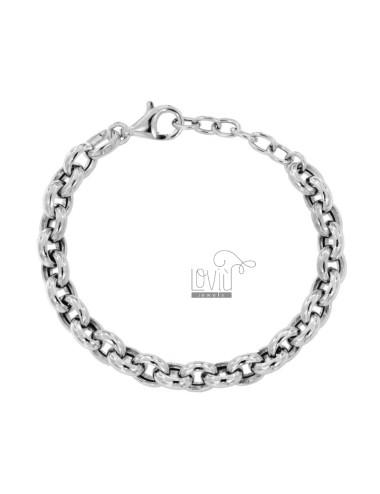 Bracelet cable 9 mm silver...