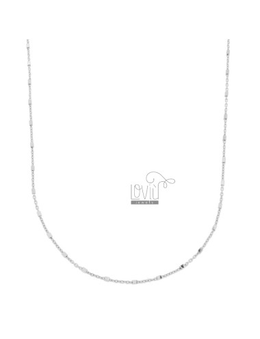 SAURAL CHAIN WITH CUBES IN SILVER RHODIUM TIT 925 ‰ CM 80