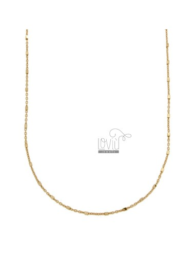 SAURAL CHAIN WITH CUBES IN ROSE SILVER TIT 925 ‰ CM 50