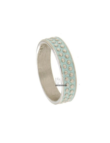 5 MM BAND RING WITH SILVER RHODIUM TITAN TITANIUM AND CELESTIAL ENAMEL VARIOUS MEASURES
