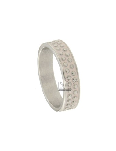 5 MM BAND RING WITH SILVER RHODIUM TIT 925 MICROSPHERES AND PINK ENAMEL MISCELLANEOUS MEASURES