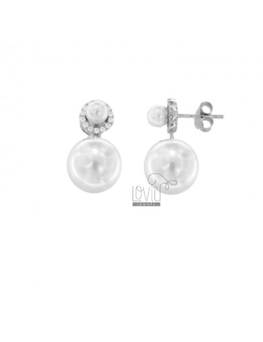Ohrringe mit perlen und...