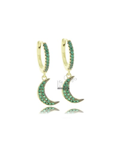 Hoop earrings with moon...
