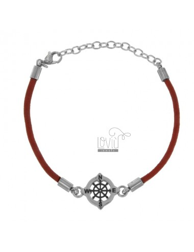 Rope bracelet red with...