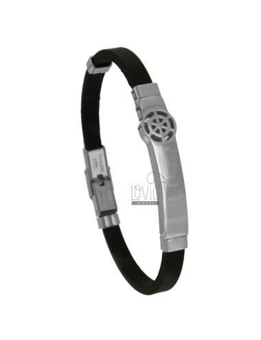 Rubber bracelet with rudder...