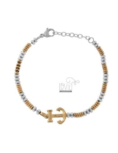 Bicolour steel bracelet...