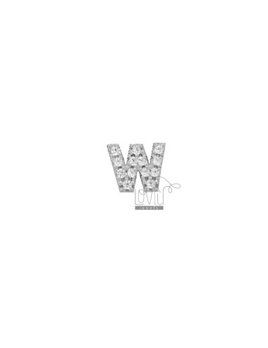 LOBO EARRING LETTER 7 MM IN...