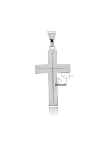Cross pendant 30x17 mm with...
