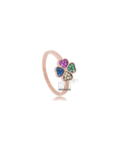 QUADRIFOGLIO RING IN ROSE...