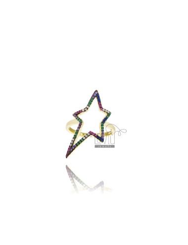 Anello contorno stella in...