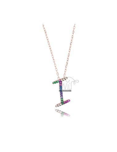 Cable necklace with letter...
