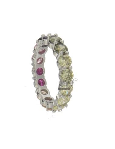 4 mm veretta ring in silber...