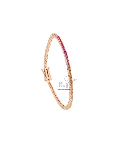 TENNIS ARMBAND MM 2 IN ROSA...