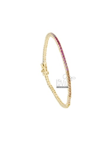 TENNIS BRACELET 2 MM GOLDEN...