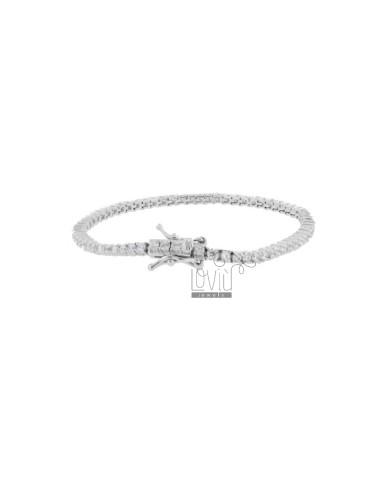 Tennis bracelet 2 mm silver...