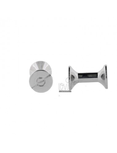 ROUND STEEL CUFFLINKS WITH SCREW