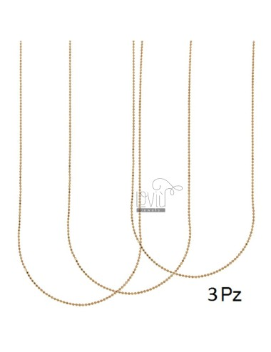 PZ 3 CHAIN BALL FACED 40 CM MM 1.2 SILVER COPPER 925 ‰