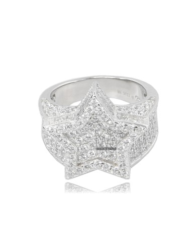 RINGSTAR IN SILBER RHODIUM...