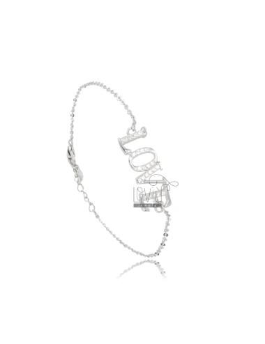 Pulsera cable love plata...