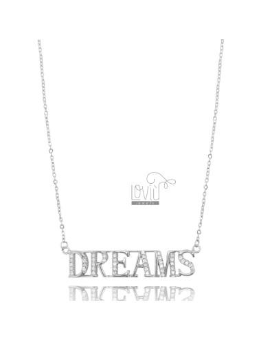 DREAMS NECKLACE IN SILVER RHODIUM TIT 925 AND ZIRCONIA 42-45 CM