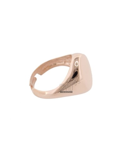 Pinky ring in pink silver...