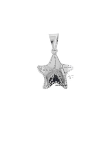 PENDANT STAR MARINA 18X16 MM SILVER RHODIUM TIT 925 ‰ AND MOTHER OF PEARL