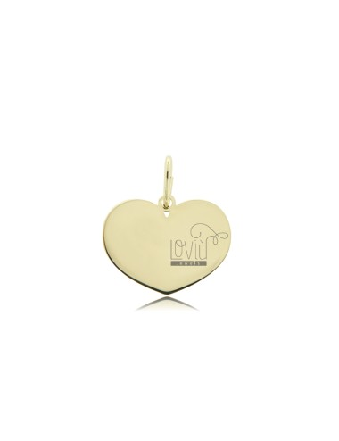 HEART PENDANT 16X20 MM LASER CUTTING IN GOLDEN SILVER TIT 925 ‰
