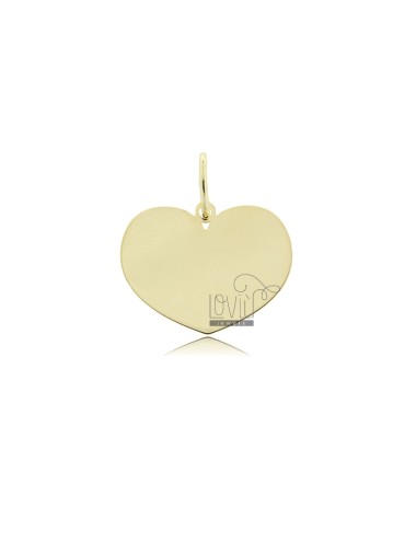 HEART PENDANT 17X22 MM LASER CUT IN GOLDEN SILVER TIT 925 ‰