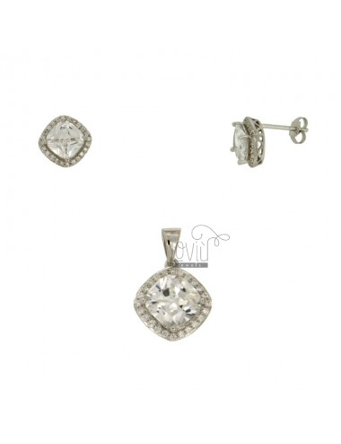 EARRINGS AND PENDANT SQUARE...