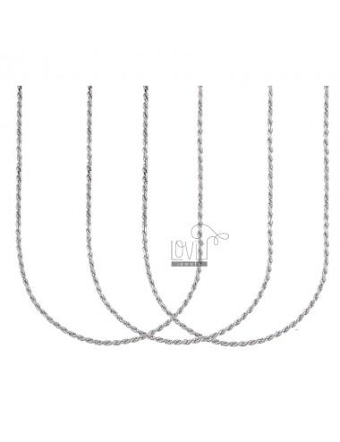 CHAIN CABLE 1.8 MM CM 45 PCS 3 SILVER RHODIUM TIT 925 ‰