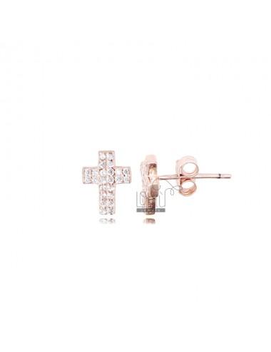 Orecchini croce mm 9x7 in...